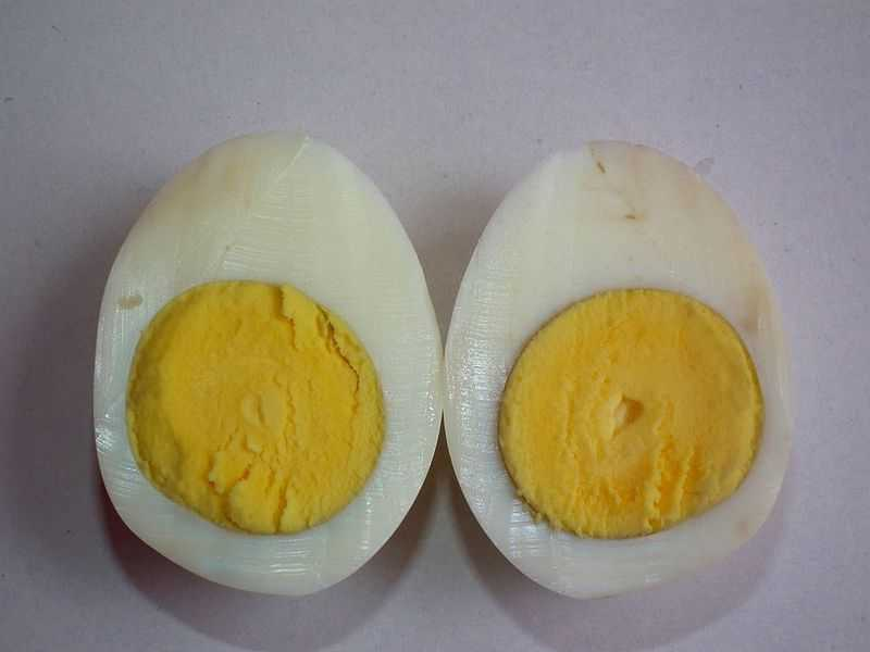 Boiled egg yolk